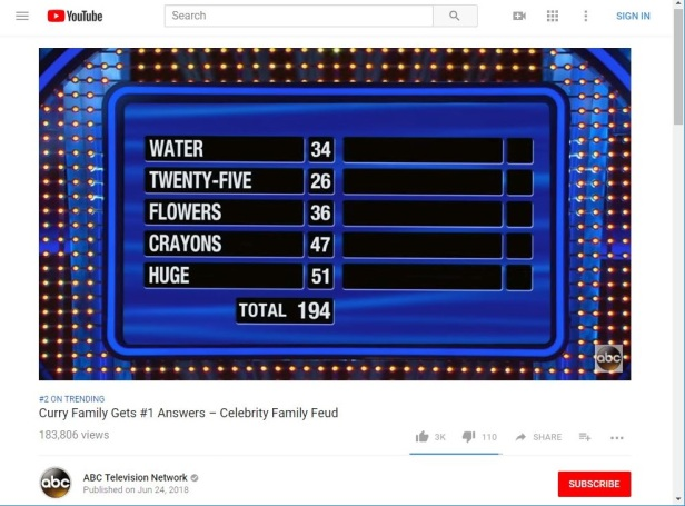 6 25 2018 #2 Trending ABC Curry family #1 answers6