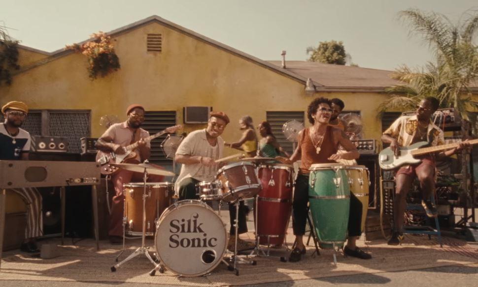 "Silk Sonic's ""Skate"" video glides to #2 on YouTube Trending"